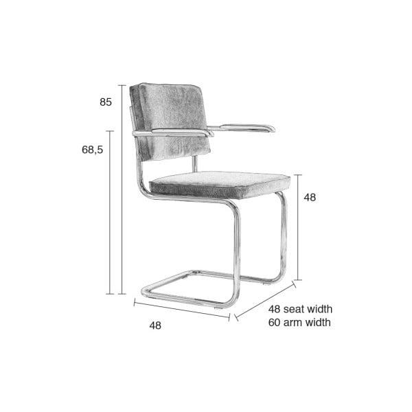 Sada 2 zelených židlí s područkami Zuiver Ridge Rib