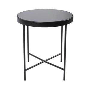 Černý příruční stolek Leitmotiv Smooth, 42,5 x 46 cm