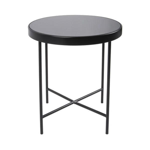 Smooth fekete tárolóasztal, 42,5 x 46 cm - Leitmotiv