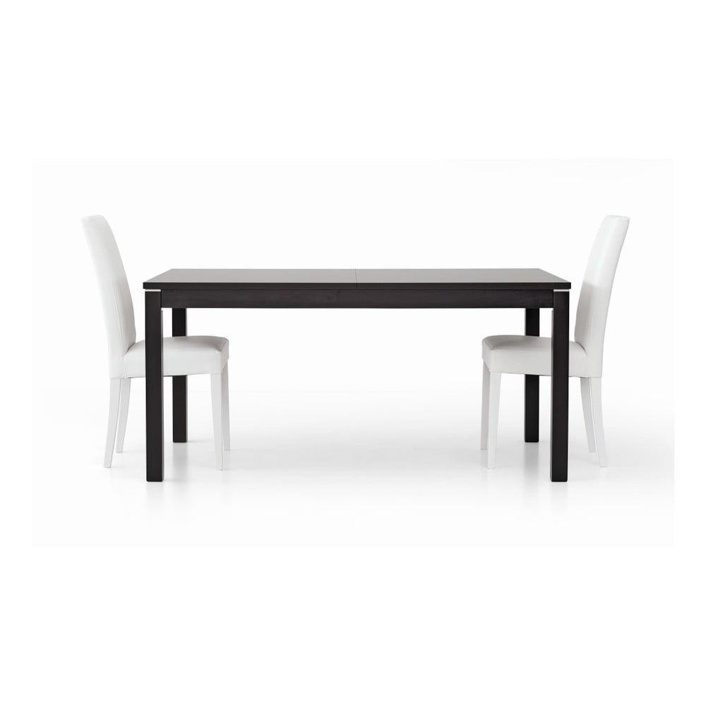 Tmavě hnědý dřevěný rozkládací jídelní stůl Castagnetti Are, 160 cm