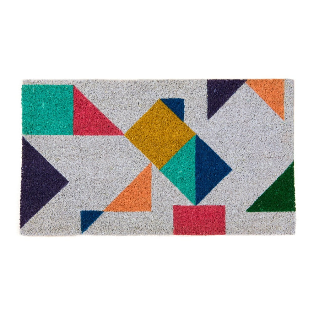 Rohožka z kokosových vláken Fisura Felpudo Bloc Multicolor, 40 x 70 cm