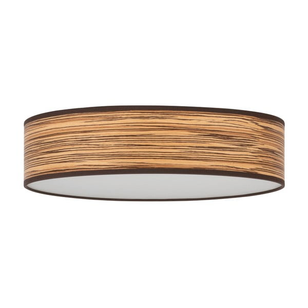 Ocho Clear világosbarna mennyezeti lámpa furnér búrával, ⌀ 40 cm - Bulb Attack