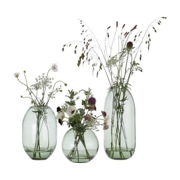 Zelená skleněná váza A Simple Mess Hedge, výška18cm