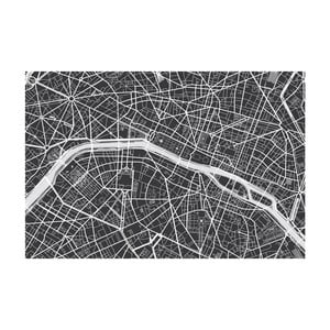 Tablou Homemania Maps Paris Black, 70 x 100 cm