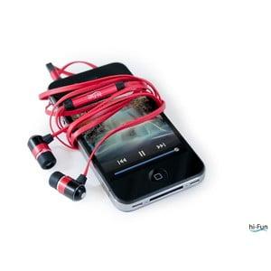 Sluchátka hi-Earphones Flat, červená