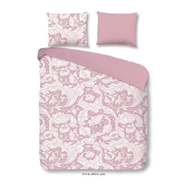 Bavlněné povlečení na dvoulůžko Descanso Birza Pink, 200x200cm