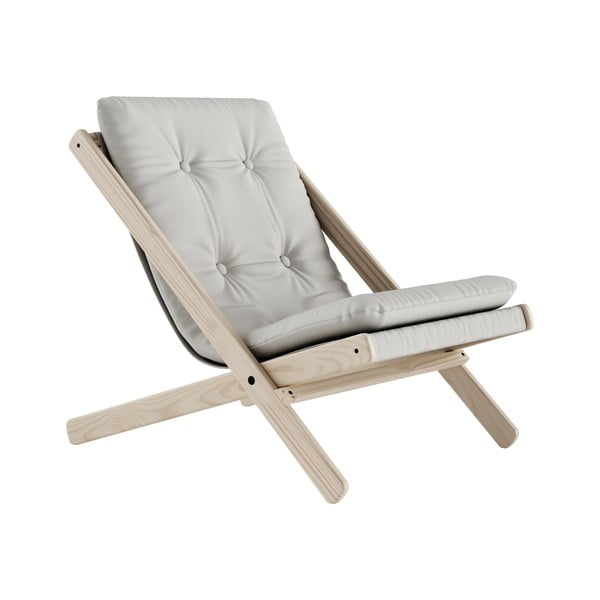 Scaun pliabil Karup Design Boogie Natural/Light Grey