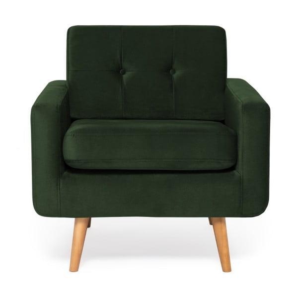 Ciemnozielony fotel Vivonita Ina Trend