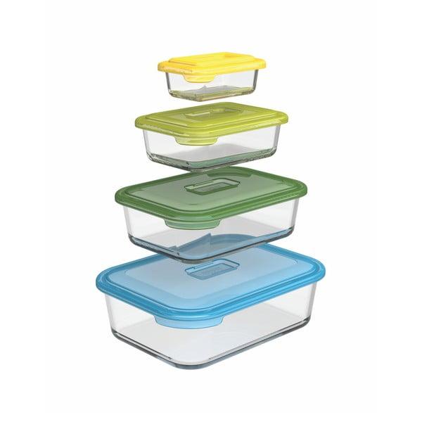 Sada 4 skleněných krabičkek na potraviny Joseph Joseph Nest