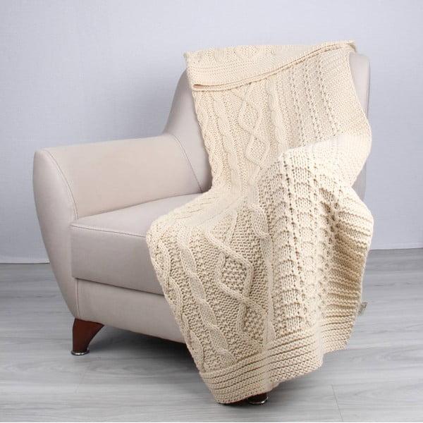 Teto krémszínű takaró, 130 x 170 cm