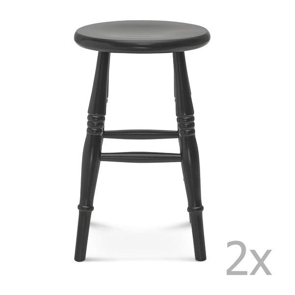 Sada 2 černých stoliček Fameg Iver