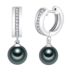 Zelené perlové náušnice Pearls of London Boreás