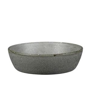 Šedá kameninová servírovací mísa Bitz Mensa, průměr 18 cm