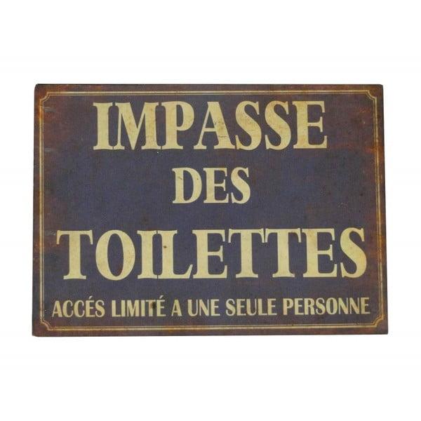 Plechová cedule Antic Line Impasse Des Toilettes