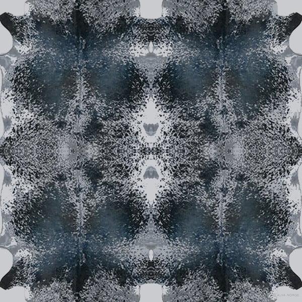 Vlněný šátek s kašmírem Happy Cow Blue, 130 cm
