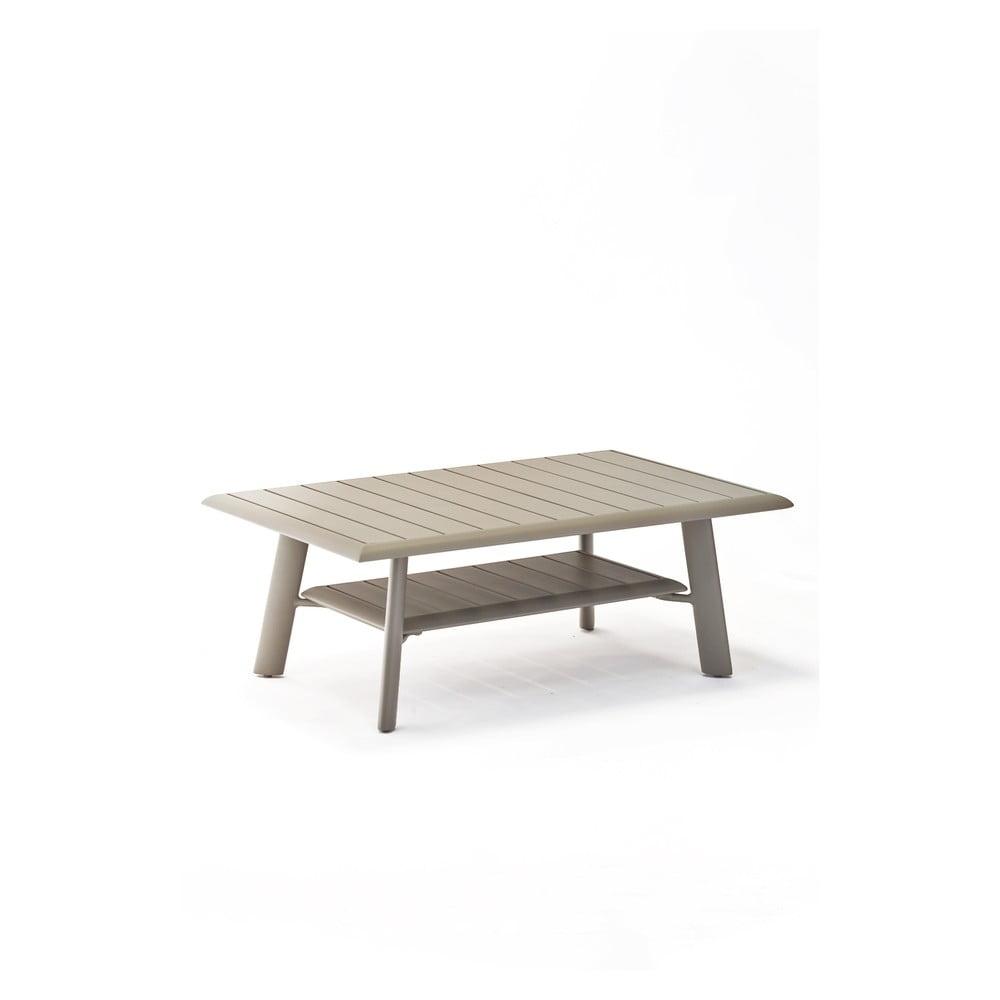 Šedý hliníkový konferenční zahradní stolek Ezeis Spring