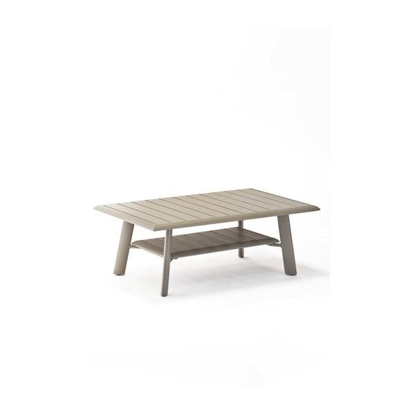 Szary aluminiowy stolik ogrodowy Ezeis Spring
