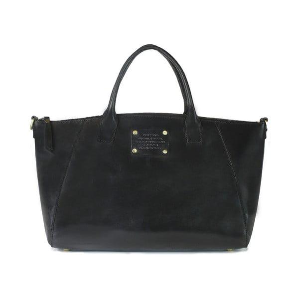 Geantă din piele O My Bag Fly Violet Midi, negru