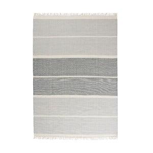 Modrý ručně tkaný vlněný koberec Linie Design Reita, 140x200cm