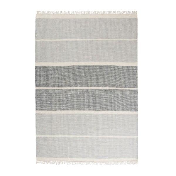 Modrý ručně tkaný vlněný koberec Linie Design Reita, 160x230cm