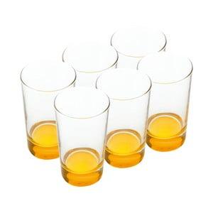 Sada skleniček, 460 ml, žluté