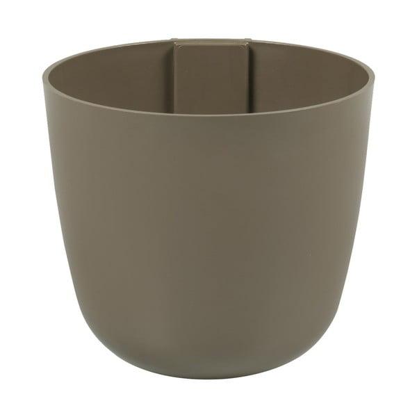 Magnetický květináč Bowl 12x11x12 cm, hnědý