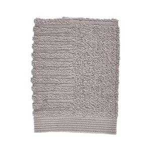 Šedý ručník ze 100% bavlny na obličej Zone Classic Gull Grey, 30x30cm