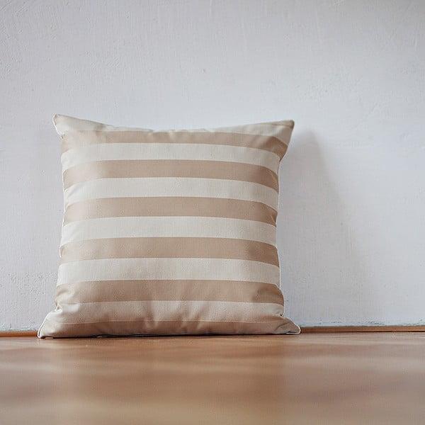Polštář s výplní Beige Stipes Lux, 50x50 cm