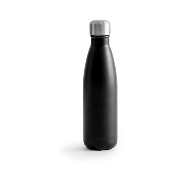 Czarna butelka termiczna ze stali nierdzewnej Sagaform Hot&Cold, 500 ml