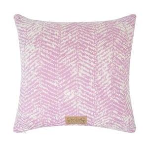 Růžový povlak na polštář Hawke&Thorn Herringbone
