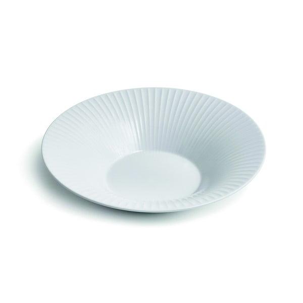 Bílý porcelánový polévkový talíř Kähler Design Hammershoi, ⌀ 26 cm