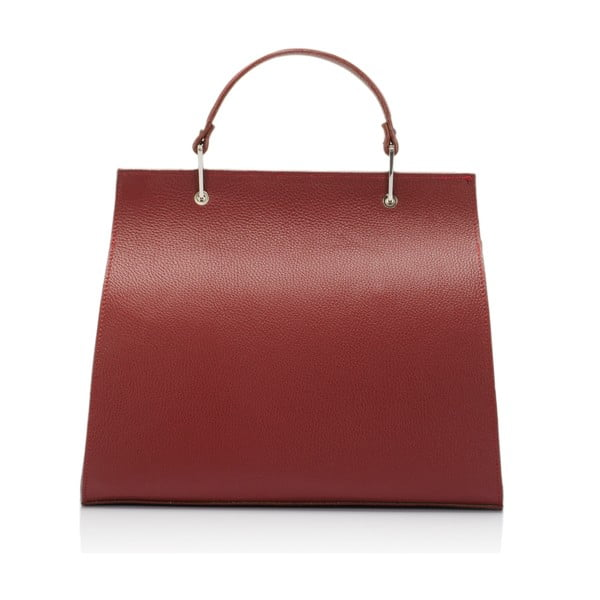 Kožená kabelka Lisa Minardi 5215 Bordo
