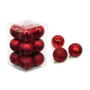 Set 12 decorațiuni de Crăciun Unimasa Navidad, roșu imagine