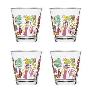 Sada 4 fialovorůžových sklenic Sagaform Fantasy, 200ml