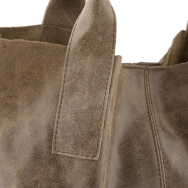 Kožená kabelka Genuine Taupe