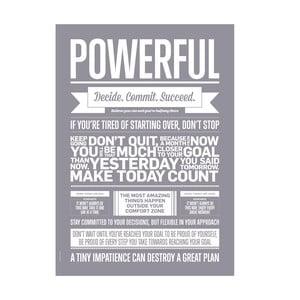 Autorský plakát Powerful, A3
