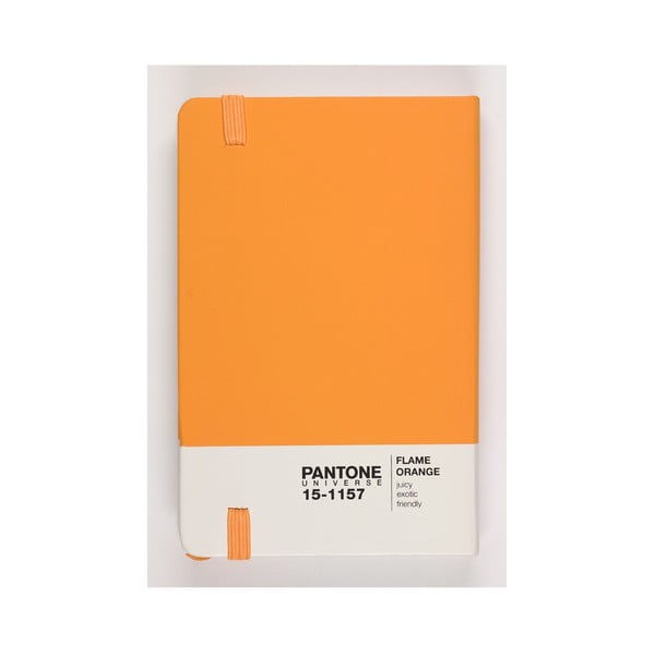 Zápisník Rubber Large Flame Orange 18-3949