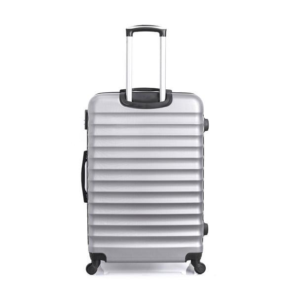 Cestovní kufr ve stříbrné barvě kolečkách Hero Meropi, 37 l