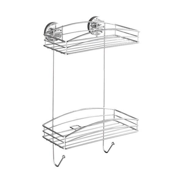 Dvoupatrová polička bez nutnosti vrtání Wenko Vacuum-Loc, až33kg