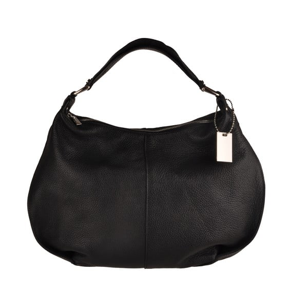 Kožená kabelka Emilio Masi Russel, černá
