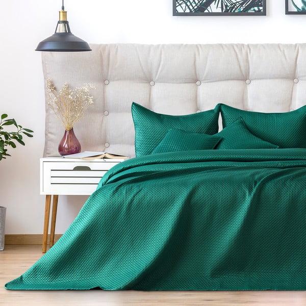 Cuvertură pentru pat dublu DecoKing Carmen, 220x240cm, verde