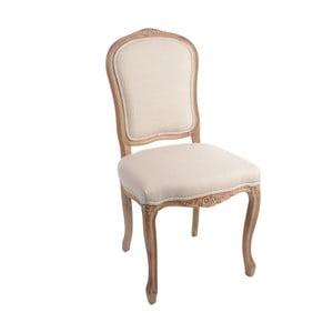 Hnědá židle Louis XV, béžová
