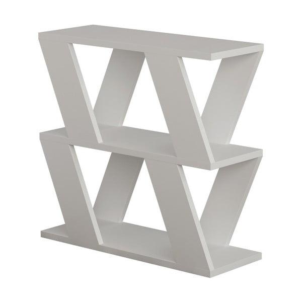 Bílý příruční stolek Lazena White
