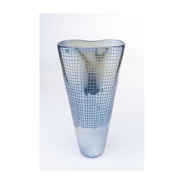Skleněná modrá váza Kare Design Luster, výška48cm