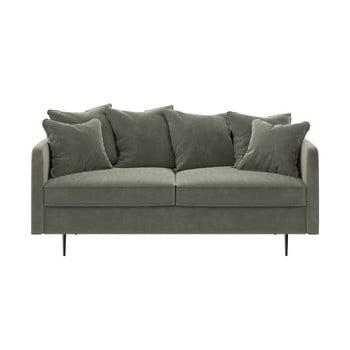 Canapea cu tapițerie din catifea Ghado Esme, 176 cm, bej