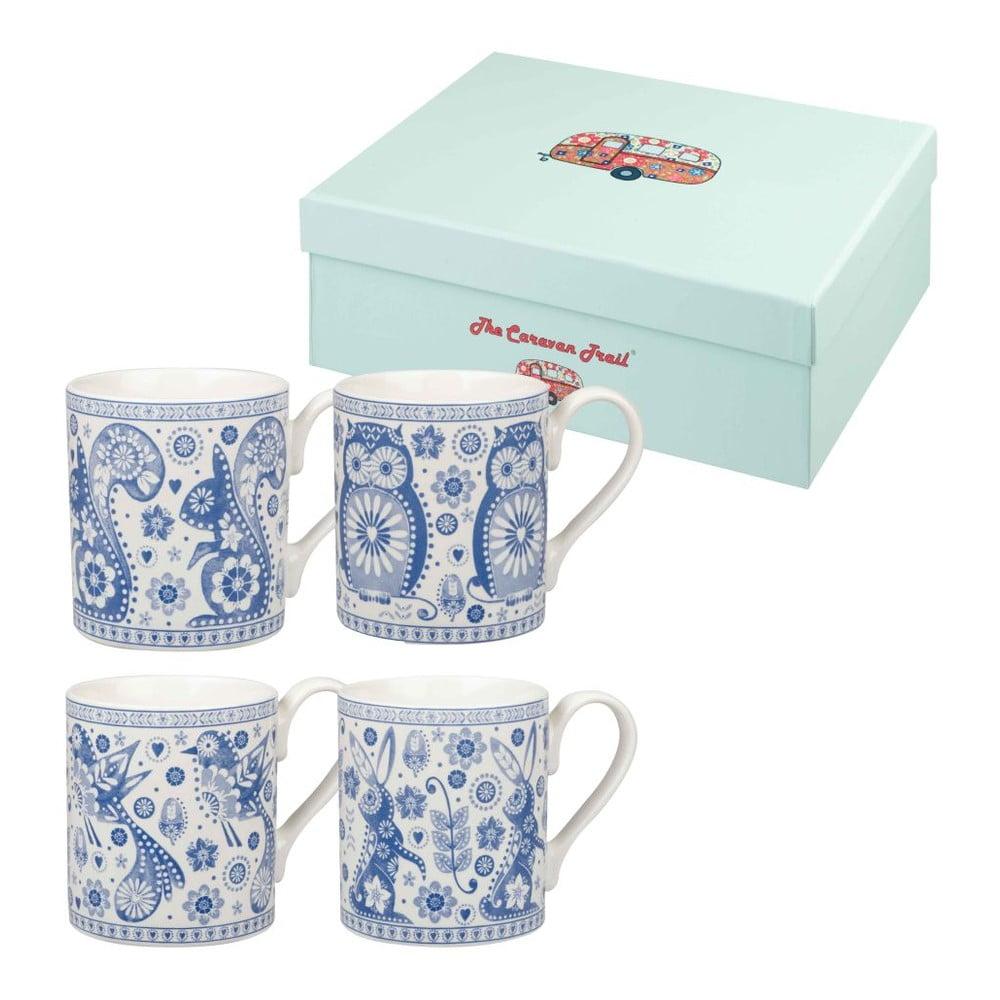 Sada 4 hrnků Churchill China Penzance Blue Mug, 250 ml