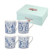 Set 4 căni Churchill China Blue Mug, 250 ml