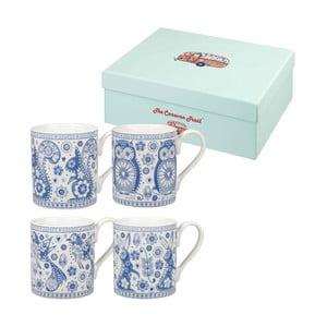 Set 4 căni Penzance Blue Mug, 250 ml