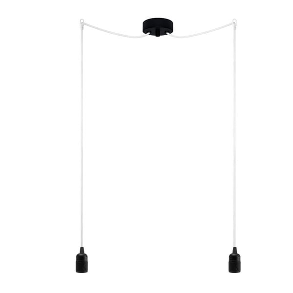 Dvojitý závěsný kabel Uno, černá/bílá/černá