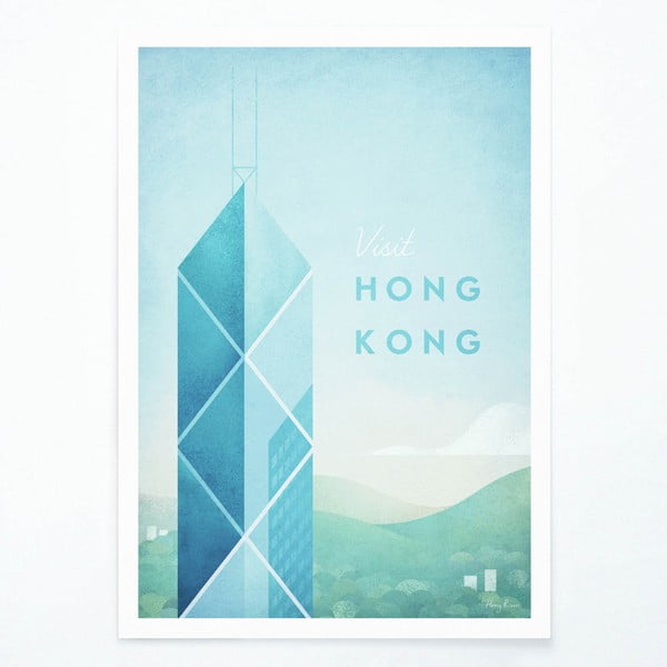 Plakát Travelposter Hong Kong, A2